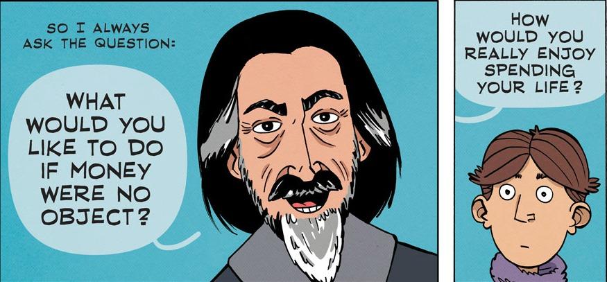 Alan Watts - What Do You Desire? (Comic Strip)   Third Monk image 2