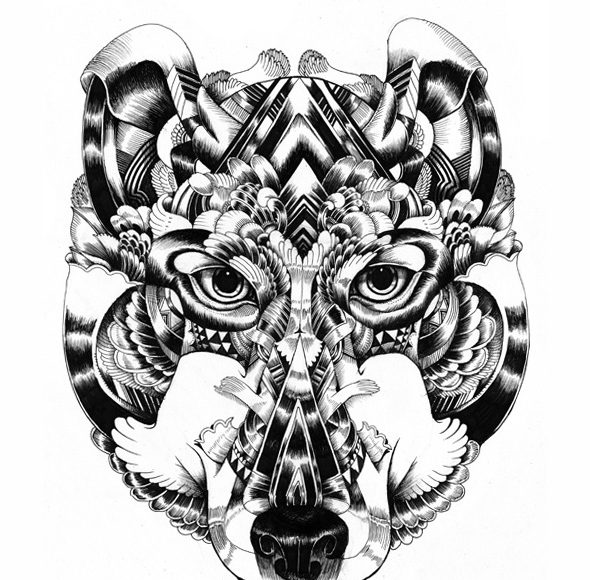 Surreal Animal Illustrations, Iain Macarthur Art Gallery   Third Monk image 6