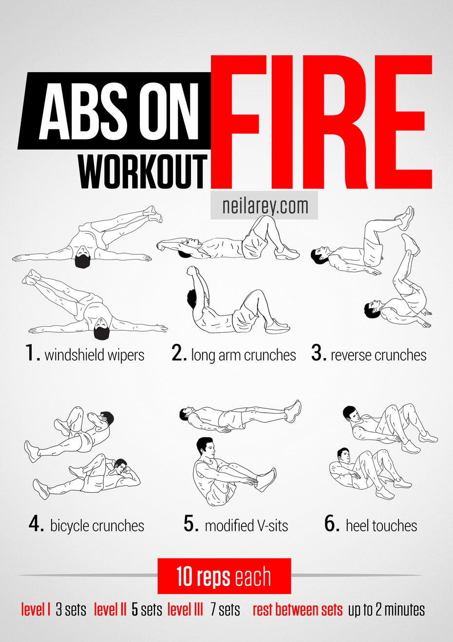 Hard core workout that rocks your upper lower abs