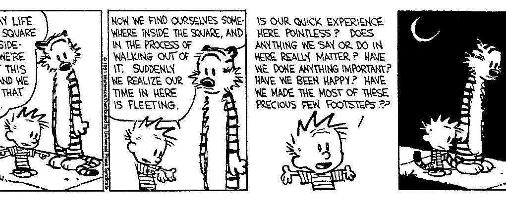 Calvin and Hobbes - The Existential Buddhist (Comic Strip)   Third Monk