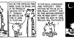 Calvin and Hobbes - The Existential Buddhist (Comic Strip) | Third Monk