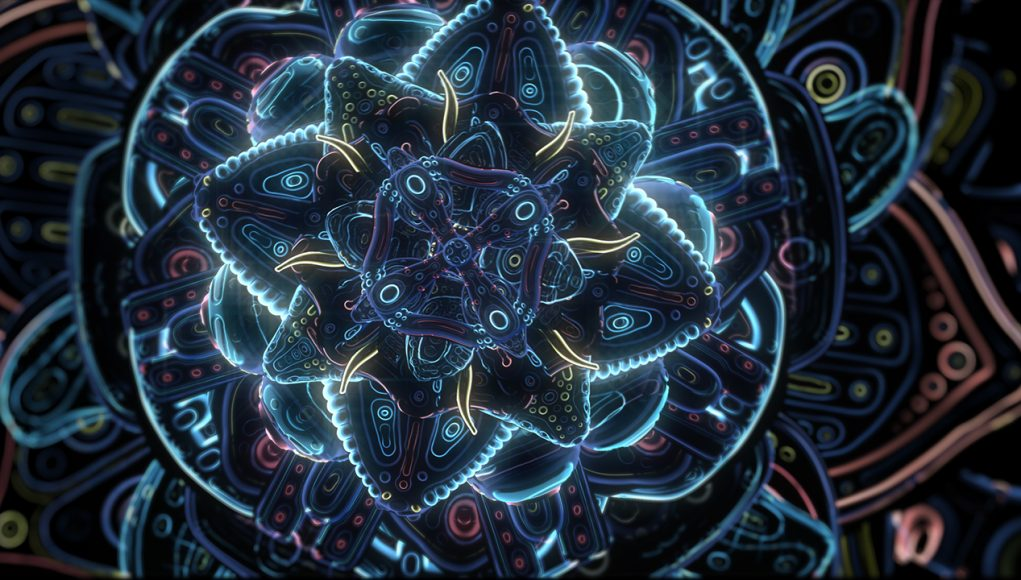 Cosmic Flower Unfolding - Psychedelic Animation on Abstract Connections (Video)   Third Monk image 1